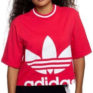 NWOT Adidas- Crop Tee, SIZE: S